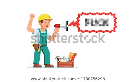 Artesano cara trabajador cabeza persona Foto stock © photography33