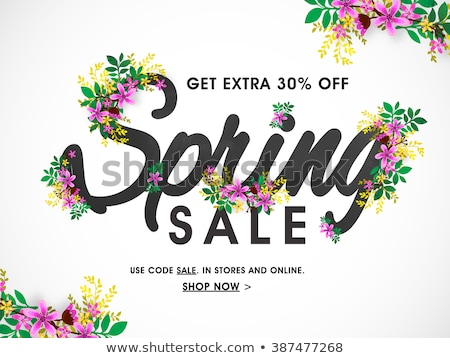 Spring sale card, vector illustration Stock photo © carodi