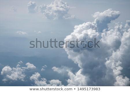 White cumulus clouds Stock photo © Leonidtit