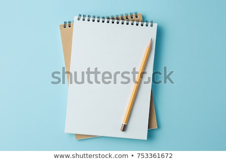 Writing an on a blank office note with a pencil Stock photo © Lightsource