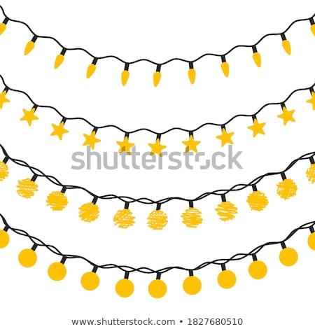 Сток-фото: электрических · желтый · стены · улице · лампы