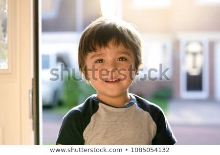 portret · cute · permanente · witte · kind - stockfoto © wavebreak_media