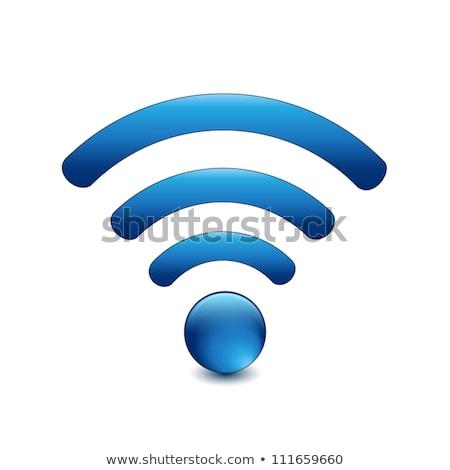 blu · wifi · simbolo · 3D · rendering · 3d · illustrazione - foto d'archivio © harlekino