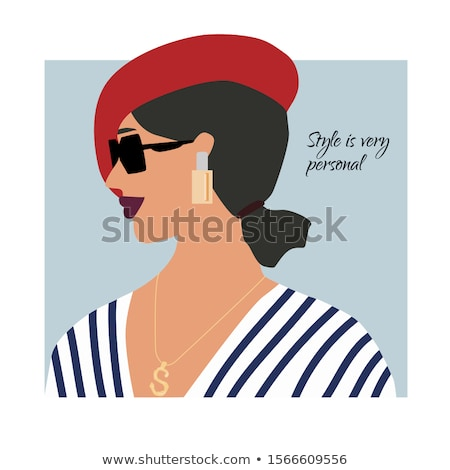 Fashion portrait of beautiful woman with pearl necklace on the b Stock photo © Victoria_Andreas
