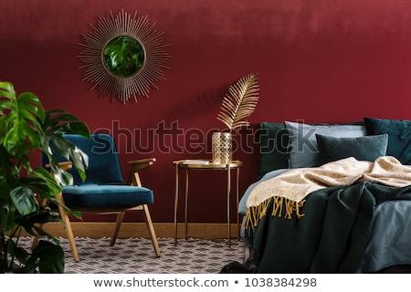 invitado · dormitorio · elegante · reina · cama · luz - foto stock © paha_l
