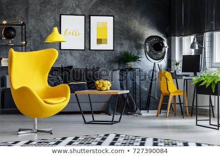Blanc noir couleurs grand vide intérieur ouvrir Photo stock © ABBPhoto