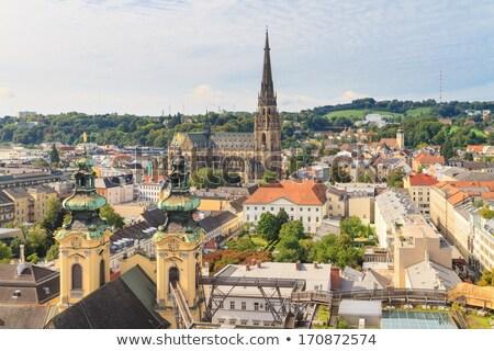 Bazilika Ausztria híres fa tavasz óra Stock fotó © Bertl123
