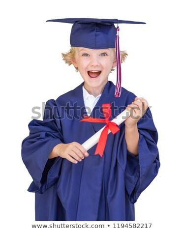 Portrait of Boy wearing graduation cap Stock photo © zzve