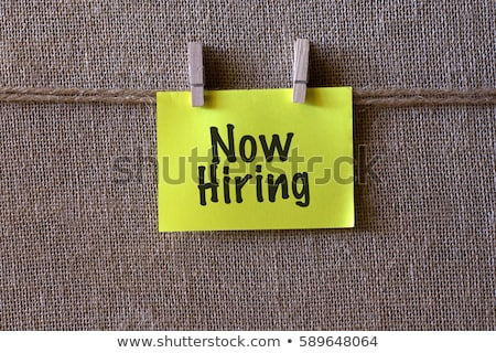 we are hiring yellow sticker on bulletin stock photo © tashatuvango