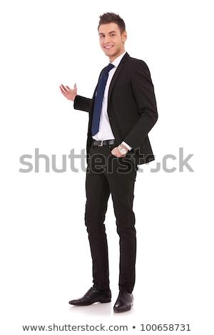 egészalakos · kép · izgatott · üzletember · kezek · szexi - stock fotó © feedough