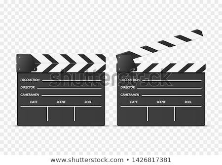 híres · igazgató · tárgyak · filmipar · mozi · film - stock fotó © idesign