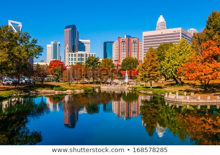 Сток-фото: Charlotte City Skyline Autumn Season