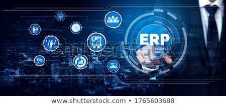 erp   enterprise resource planning process stock photo © burakowski
