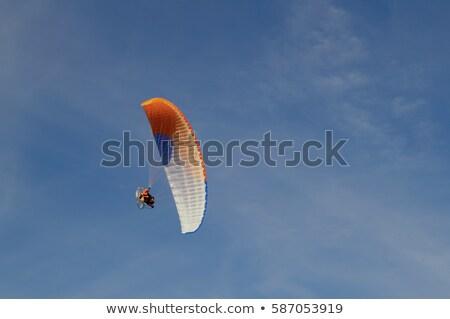 battant · ciel · bleu · homme · sport · été · bleu - photo stock © bsani