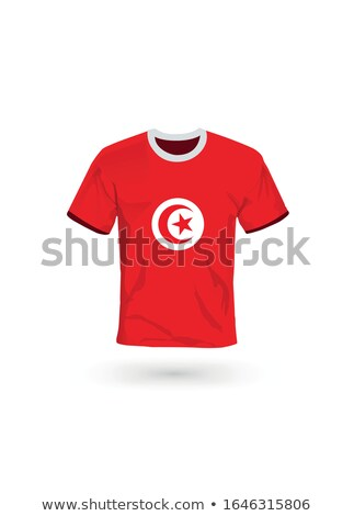 Flag of tunisia with football in front of it Stock photo © MikhailMishchenko