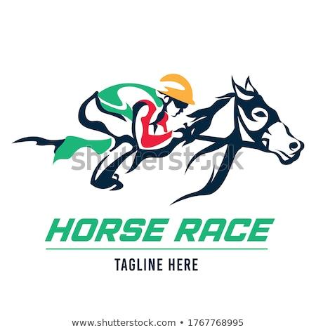 Jockey caballo deporte club competencia evento Foto stock © HunterX