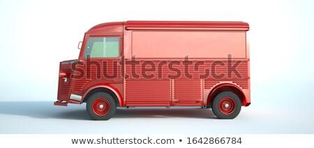 Vintage dairy truck Stock photo © Obencem