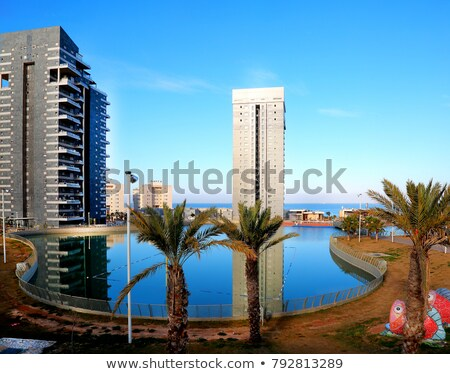 urban park with sea view in ashdod israel stock photo © rglinsky77