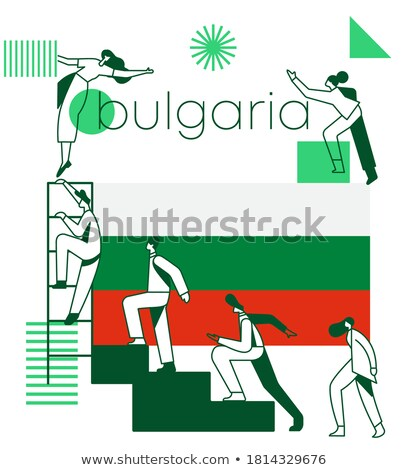 Bulgária bandeira idéia projeto abstrato Foto stock © kiddaikiddee