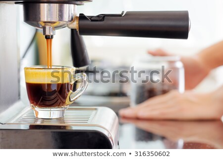 invigorating coffee with crema Stock photo © OleksandrO