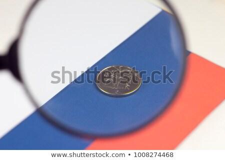 Politique pression loupe vieux papier rouge vertical Photo stock © tashatuvango