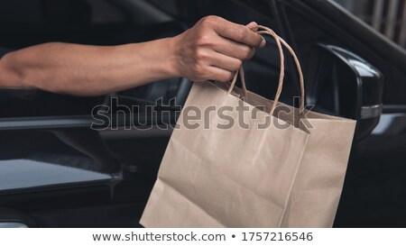 Man working with food in a elegant enviroment. Stock photo © gemenacom