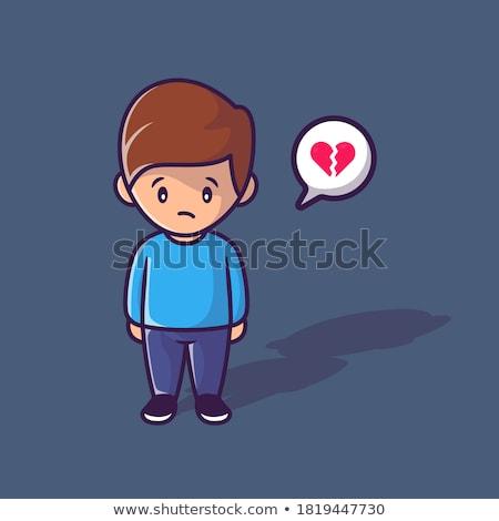 cartoon antisocial boy Stock photo © lineartestpilot