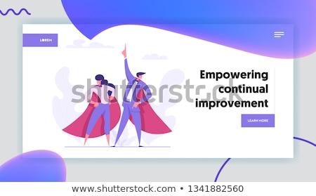 Rajz büszke nő kéz boldog terv Stock fotó © lineartestpilot