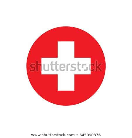 Gomb szimbólum Svájc zászló térkép fehér Stock fotó © mayboro1964