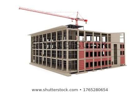 Modèle miniature chiffre bois camion travailleur Photo stock © nelsonart
