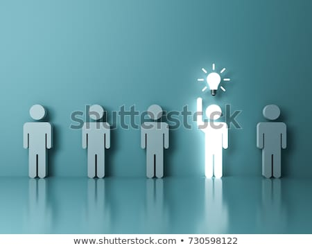 Mains permanent ampoule main réunion résumé Photo stock © vgarts