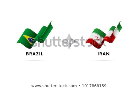 Brazil and Iran Flags Stock photo © Istanbul2009