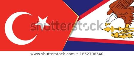 Turquia Samoa Americana bandeiras quebra-cabeça isolado branco Foto stock © Istanbul2009