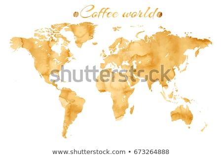 Coffee map Stock photo © fuzzbones0
