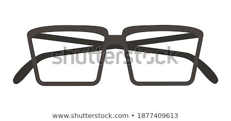 Black glasses to improve eyesight isolated on white background Stock photo © teerawit