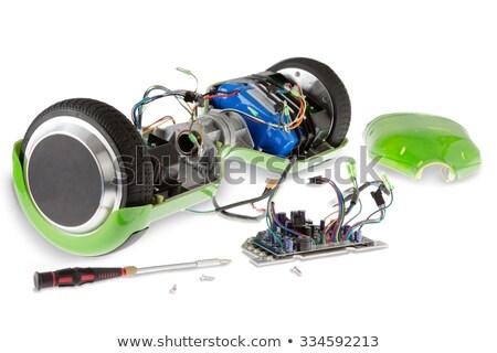 Eléctrica skateboard destornillador rueda equilibrio Foto stock © ozgur