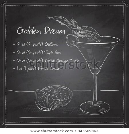 Alcoholic Cocktail Golden dream on black board Stock photo © netkov1