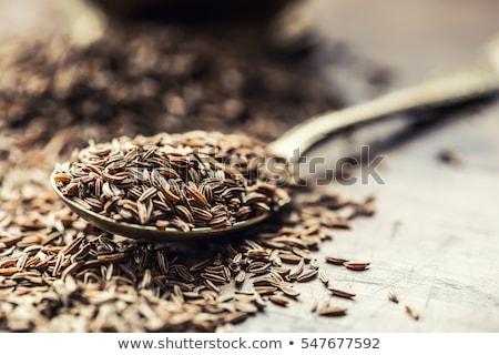 マクロ クローズアップ オーガニック クミン 種子 孤立した ストックフォト © ziprashantzi