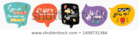 Doodle tag icon Blauw pen Stockfoto © pakete