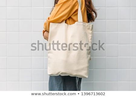 eco · çanta · üç · farklı · pozisyonları - stok fotoğraf © elgusser