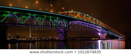 ночь моста фары цвета ночной Сток-фото © AntonRomanov