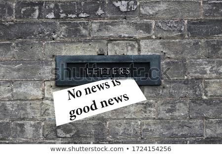 Uma boa notícia casa assinar sucesso Foto stock © devon