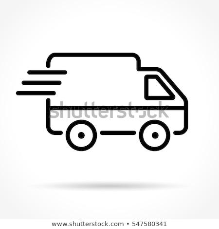 бесплатная доставка грузовика линия икона веб мобильных Сток-фото © RAStudio