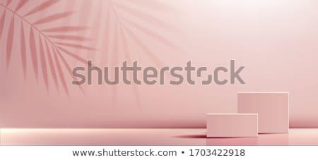 3D czarny różowy polu na zewnątrz wewnątrz Zdjęcia stock © romvo