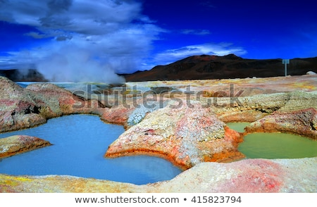 гейзер Боливия воды пейзаж свет пустыне Сток-фото © meinzahn