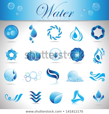 Save water graphic with water droplets  Stock photo © shawlinmohd