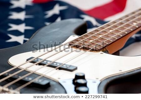 Csillagok csíkok gitár USA zászló kő Stock fotó © Bigalbaloo