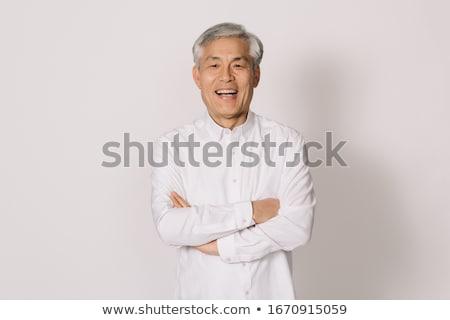 Ludzi asia rysunek biały projektu chłopca Zdjęcia stock © bluering