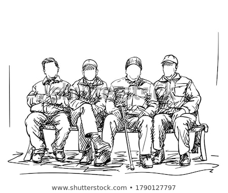 Four faceless people sitting Stock photo © bluering