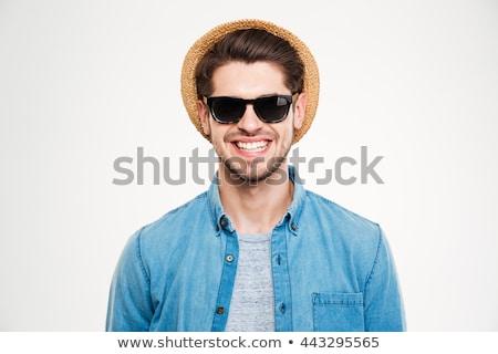 молодым · человеком · Солнцезащитные · очки · Hat · человека · Dance · лет - Сток-фото © deandrobot